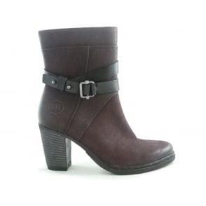 2/25362/29 Rigo Merlot Leather Ankle Boot