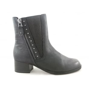 2/25367/29 Badani Navy Leather Ankle Boot