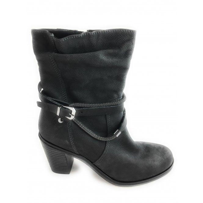 Marco Tozzi 2-25383 Womens Dark Grey Leather Boot