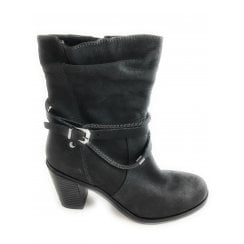2-25383 Womens Dark Grey Leather Boot