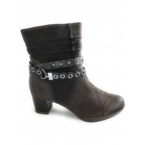 2-25385 Womens Brown Leather Ankle Boot