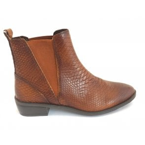 2-25386 Brown Leather Chelsea Boot