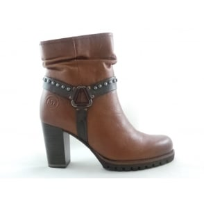 Marco Tozzi 2/25404/39 Bulla Tan and Brown Leather Ankle Boot