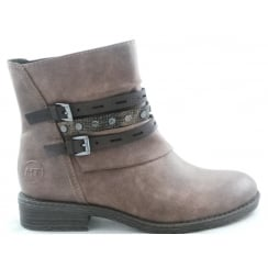 2/25413/29 Graz Light Brown Faux Leather Ankle Boot