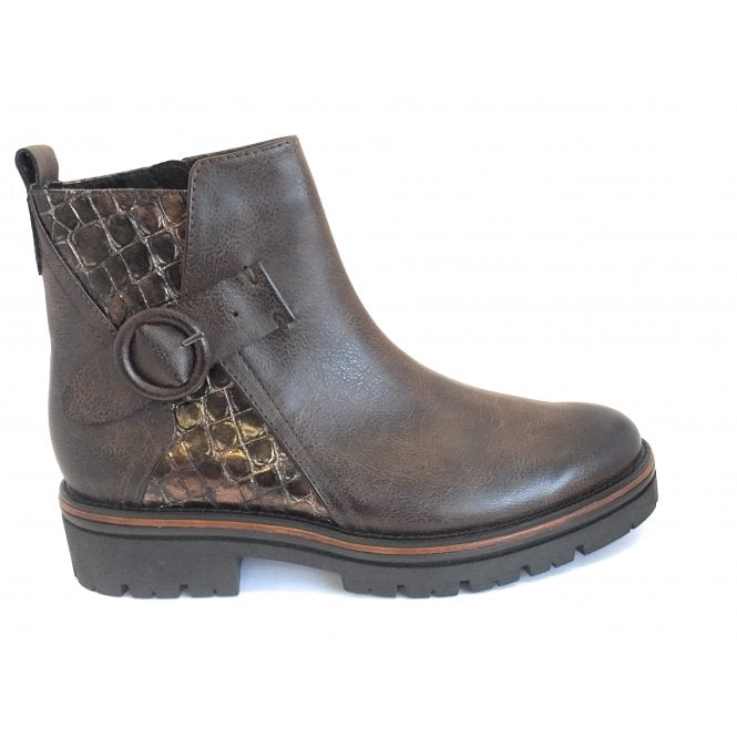 Marco Tozzi 2-25418 Brown Chunkly Ankle Boot