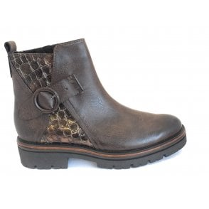 2-25418 Brown Chunkly Ankle Boot