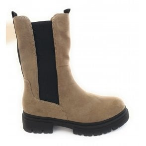 2-25419 Taupe Mid Calf Boots
