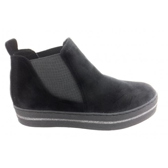 Marco Tozzi 2-25430 Black Velvet Chelsea Boot
