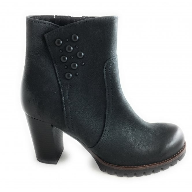 Marco Tozzi 2-25435 Dark Navy Leather Ankle Boot