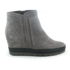 2/25437/29 Brena Grey Suede Wedge Ankle Boot