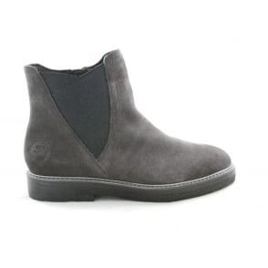 2/25447/29 Vono Dark Grey Faux Suede Ankle Boot