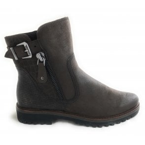 2-25450 Brown Leather Ankle Boot