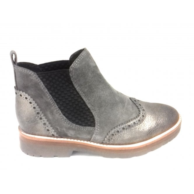 Marco Tozzi 2-25451 Taupe Leather Chelsea Boot