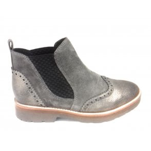 2-25451 Taupe Leather Chelsea Boot
