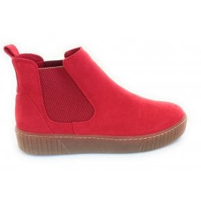2-25454 Red Chelsea Boots
