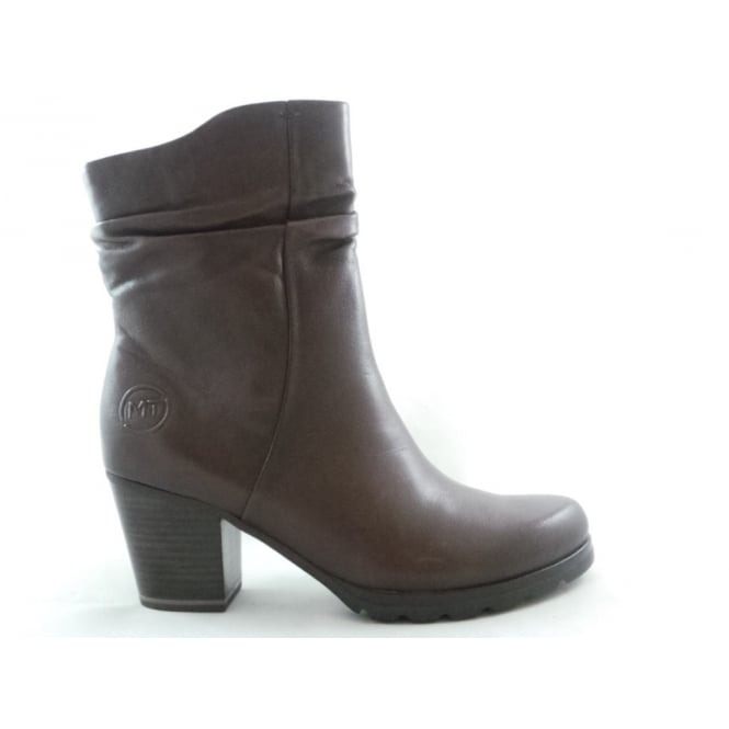 ffc7214348d3 Marco Tozzi 2 25457 29 Cunico Brown Leather Ankle Boot - Marco Tozzi ...
