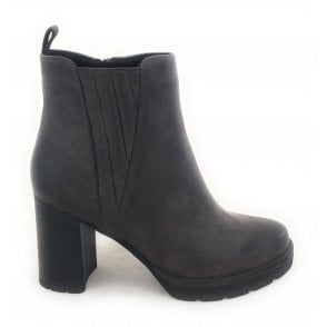 2-25463 Dark Grey Faux Leather Boots
