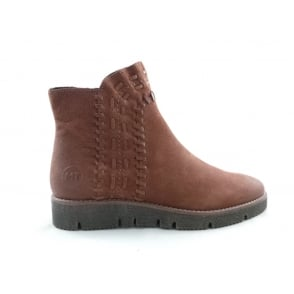 2/25476/29 Roma Brown Wedge Casual Boot