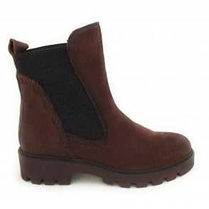 2-25496 Brown Leather Chelsea Boots