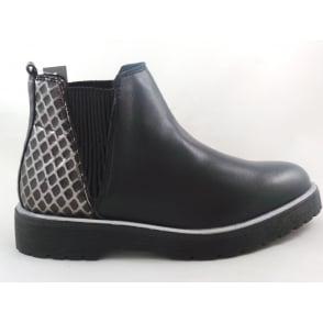 2/25498/29 Milano Black Leather Chelsea Boot