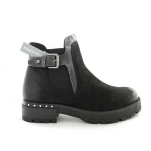 2/25499/29 Farra Black Leather Ankle Boot
