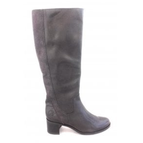 2-25525 Brown Leather Knee High Boot