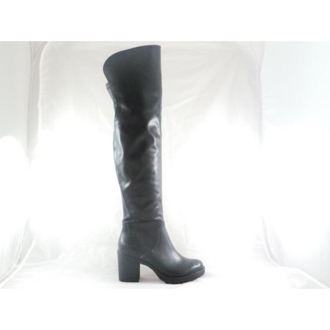 Marco Tozzi 2/25604/29 Saga Black Over the Knee Boot