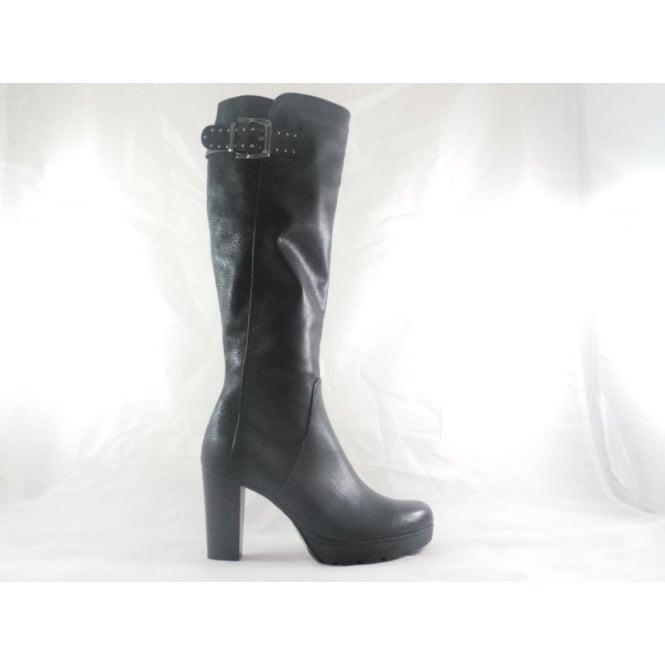 e9b184aa2445 Marco Tozzi 2/25609/29 Koper Black Knee-High Boot