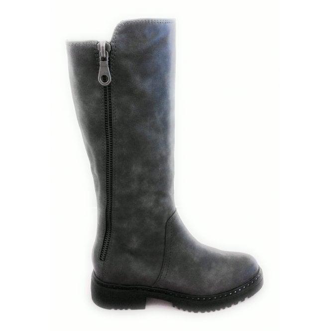 Marco Tozzi 2-25646 Dark Grey Knee High Boot