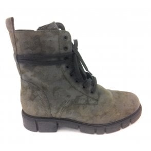 2-25721 Olive Green Army Print Boots