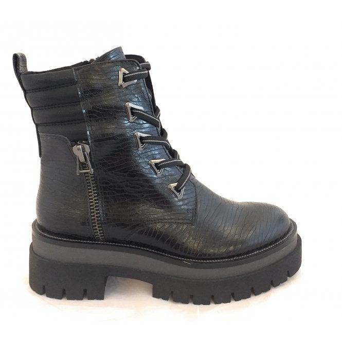 Marco Tozzi 2-25785 Black Biker Boots