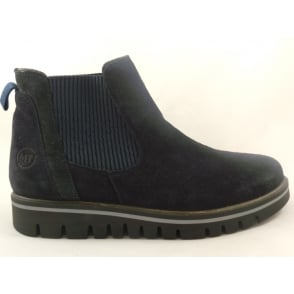 2/25802/29 Irina Navy Suede Chelsea Boot