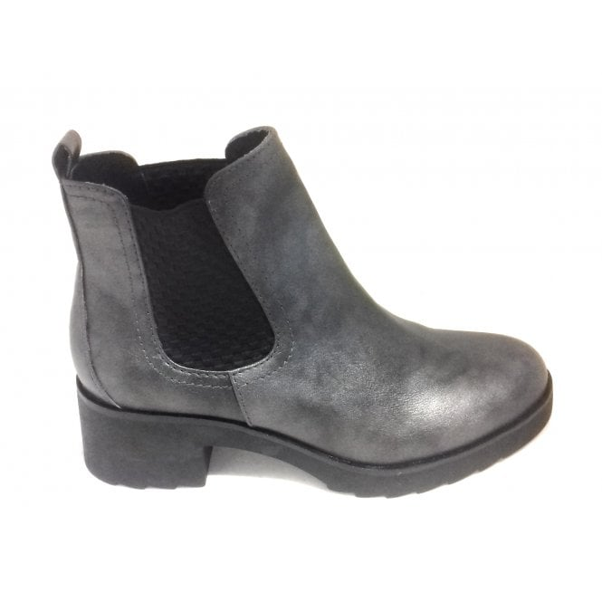 Marco Tozzi 2-25806 Womens Pewter Heeled Chelsea Boot
