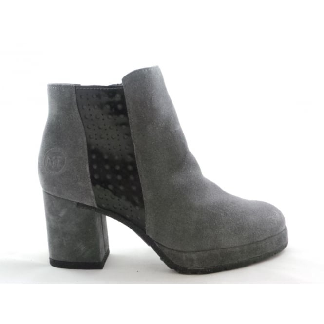 Marco Tozzi 2/25819/29 Buba Dark Grey Suede Ankle Boot