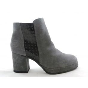 2/25819/29 Buba Dark Grey Suede Ankle Boot