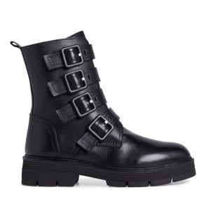 2-25819 Black Leather Boots