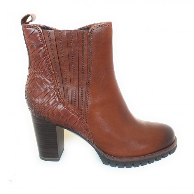 Marco Tozzi 2-25823 Chestnut Brown Leather Heeled Boots
