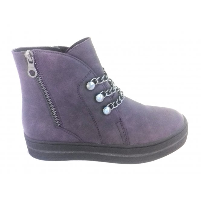 Marco Tozzi 2-25834 Womens Purple Wedge Ankle Boot