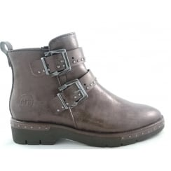 2/25848/39 Lizza Brown Metallic Ankle Boot