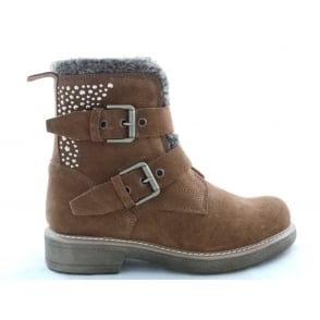 2/26044/39 Emy Brown Suede Ankle Boot