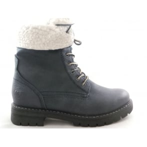 2/26241/29 Dark Navy Lace Up Ankle Boot