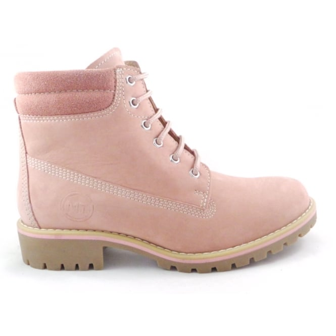 826d58ae0ba1 Marco Tozzi 2/26248/29 Rose Pink Leather Lace-Up Ankle Boot - Marco Tozzi  from size4footwear.com UK