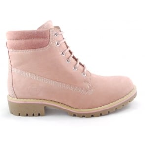 2/26248/29 Rose Pink Leather Lace-Up Ankle Boot