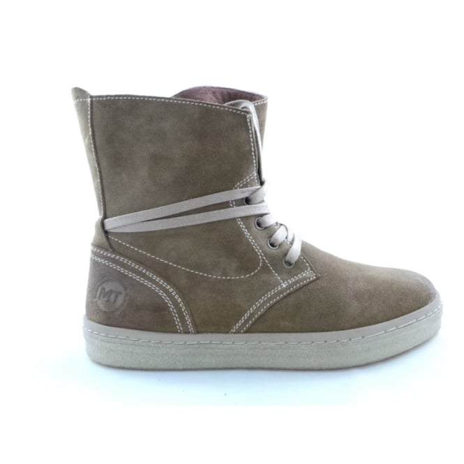 Marco Tozzi 2/26261/29 Leslie Light Brown Suede Lace-Up Ankle Boot