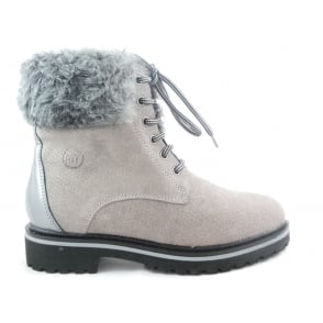 2/26265/39 Marion Grey Ankle Boot with Fur