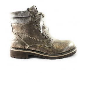 2/26280/39 Sestino Taupe Metallic Lace-Up Ankle Boot