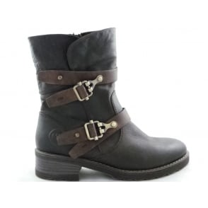 2/26432/29 Dussi Brown Faux Leather Ankle Boot