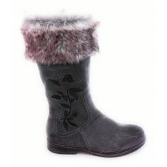 2-26440 Taupe Faux Suede Calf Boot