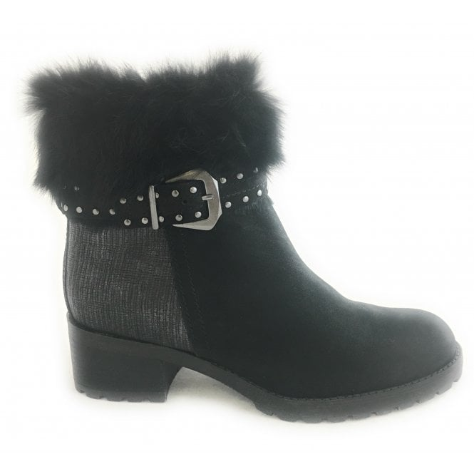 Marco Tozzi 2-26476 Womens Black Leather Ankle Boot
