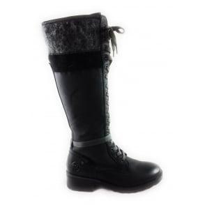 2/26640/29 Dussi Black Knee-High Boot